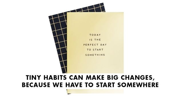 Tiny Habits Can Make Big Changes, Because We Have to Start Somewhere