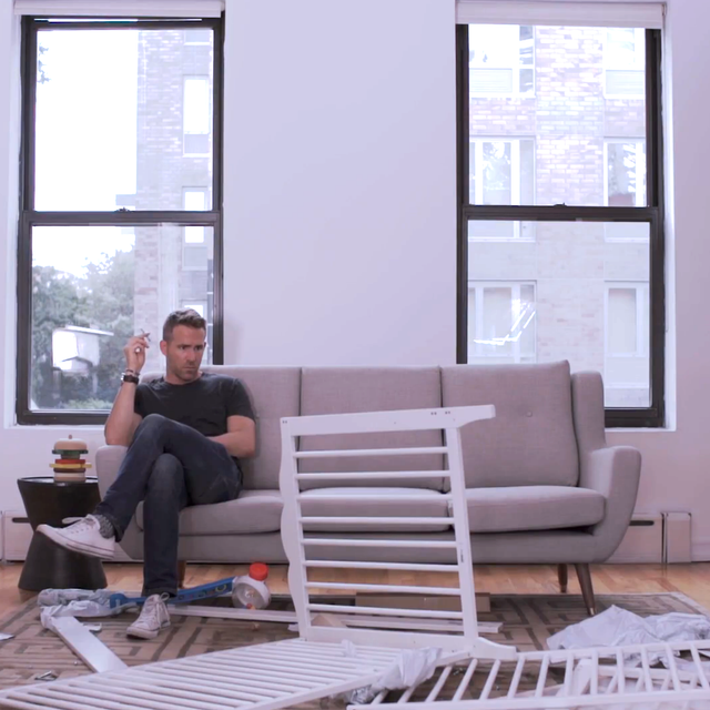 Ryan Reynolds Tries to Build an IKEA Cot, and It's Epic
