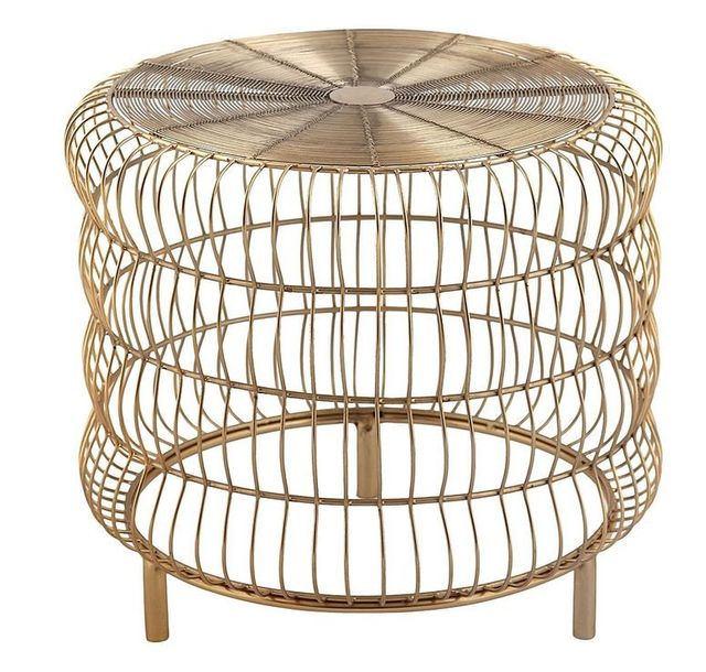 j.elliot HOME Francesca Gold Side Table