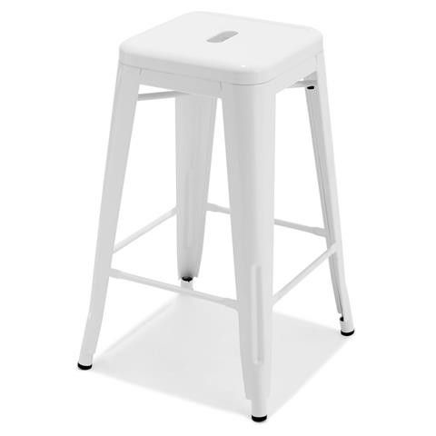 Kmart White Metal Bar Stool