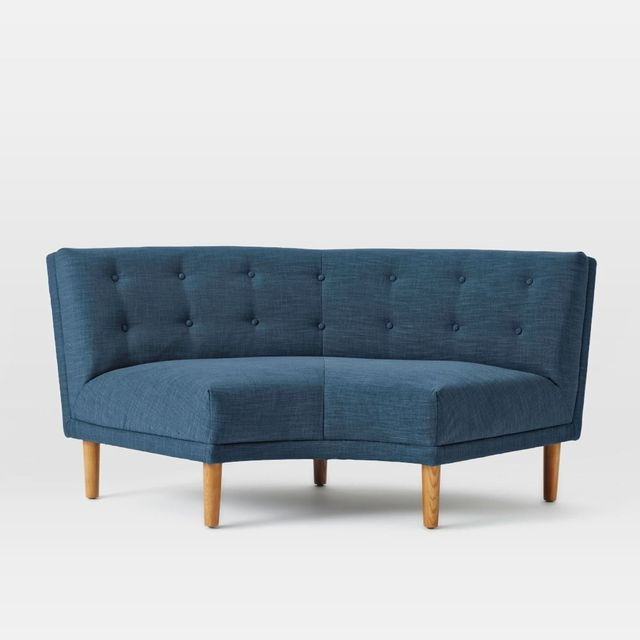 West Elm Rounded Retro Curved Sofa