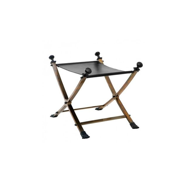 Country Trader Brass and Iron Stool