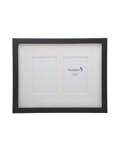 Freedom Madison Frame Two 4x6inch in Black