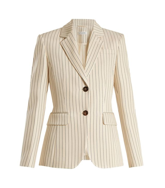 Fenice single-breasted pinstriped blazer