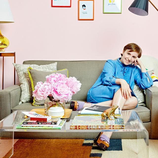 Exclusive: Tour Lena Dunham's Vibrant Girls Dressing Room