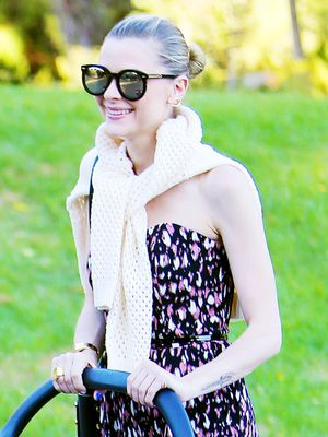 Jaime King Goes on a Walk, Looks Chic as Ever
