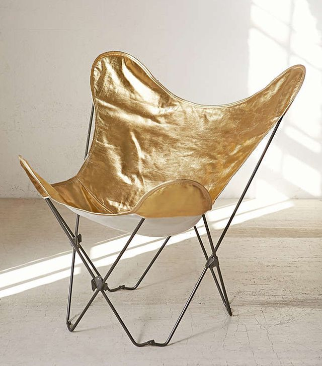Urban Outfitters Plum & Bow Gold Butterfly Chair Cover