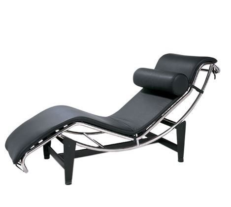 Matt Blatt Leather Chaise