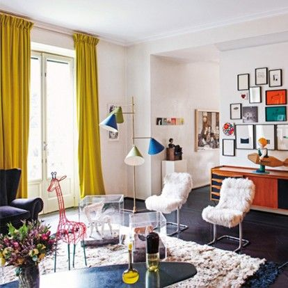 Home Tour: The Eclectically Chic Milan Home of Marni's Founder