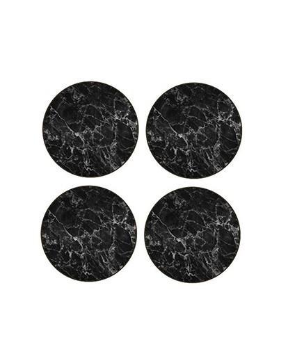 Jason Black Marble Round Coasters Set of 4