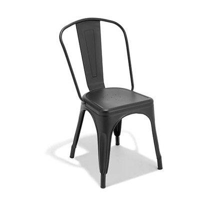 Kmart Black Metal Stacking Chair