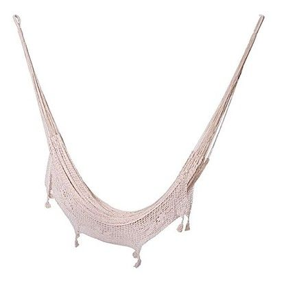 Zanui Mexican Fringe Cotton Outdoor Hammock