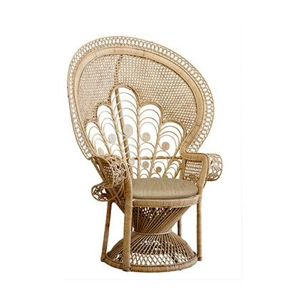 The Family Love Tree Lady Peacock Chair Natural