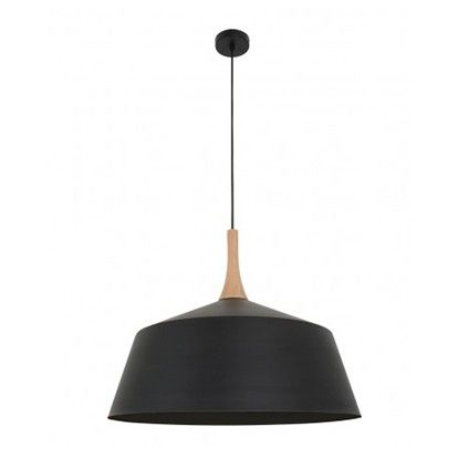 Beacon Lighting Husk 550mm Pendant in Matt Black/Ash