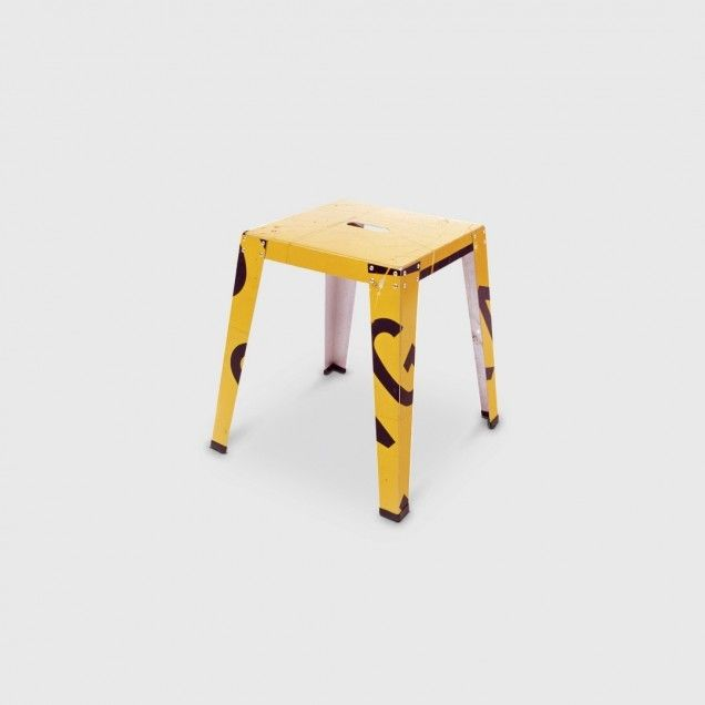 Living Edge Sign Stool 450 in Yellow