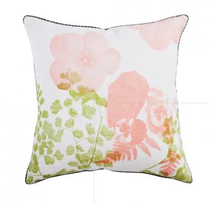 Bonnie and Neil Pansy Peach Green 50cm Cushion