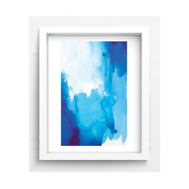 Jasper and Eve Ocean Blue Watercolour Print