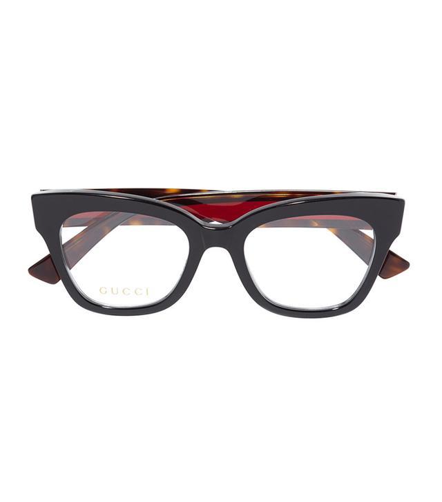 322109cb564 Gucci Cat-Eye Embellished Acetate Optical Glasses