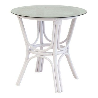 The Family Love Tree Smokey Glass Top Table White