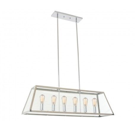 Beacon Lighting Southampton 6 Light Pendant in Stainless Steel