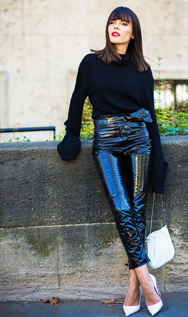 All-black NYE outfit idea
