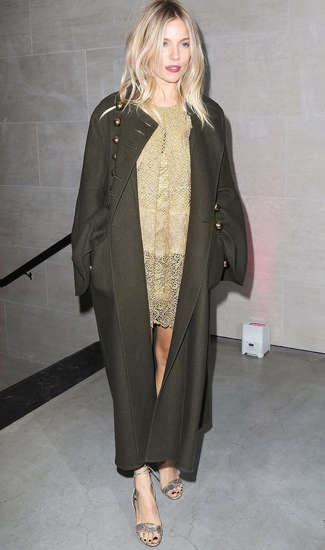 Sienna Miller NYE outfit idea