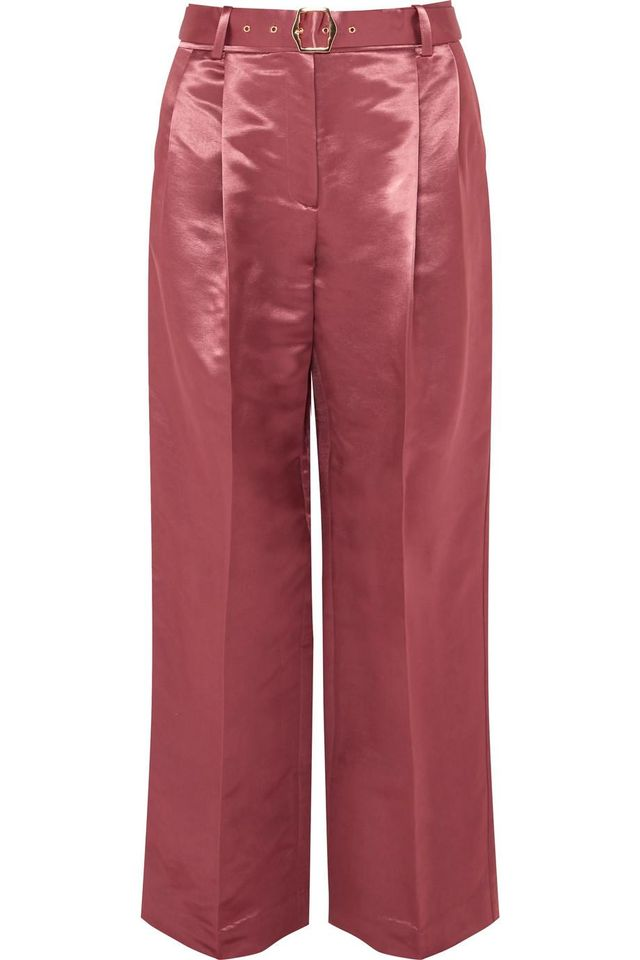 Blanche Belted Satin Pants