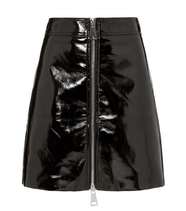 Ronny Kobo Penelope Patent Mini Skirt