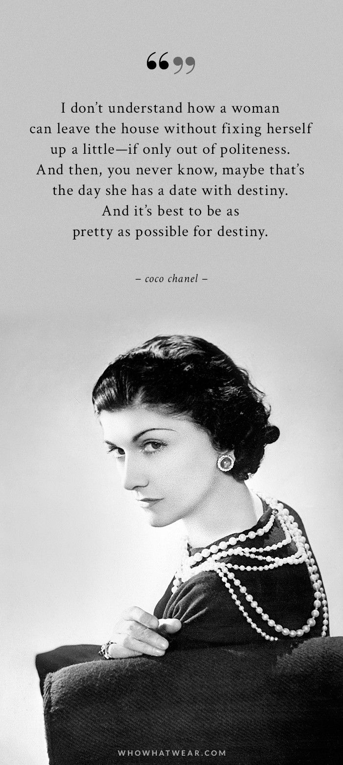 a woman s ideal wardrobe according to coco chanel who what wear