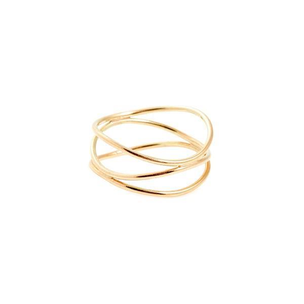 Sarah & Sebastian Tri Warp Ring