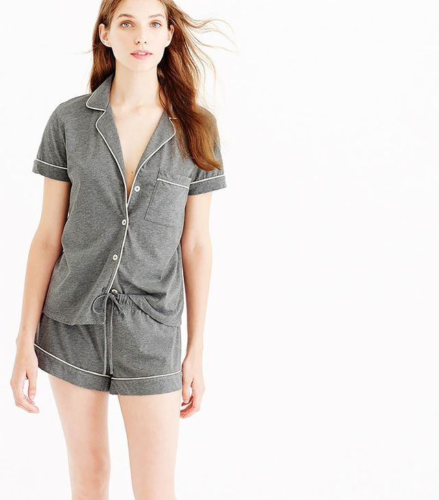 J.Crew Monogramed Short-Sleeve Pyjamas
