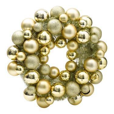 Jolly & Joy Bauble Wreath Gold