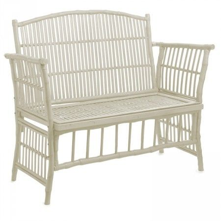 Alfresco Emporium Bamboo Love Seat White