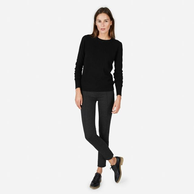 Women's Cashmere Crew Sweater by Everlane in Black, Size XS