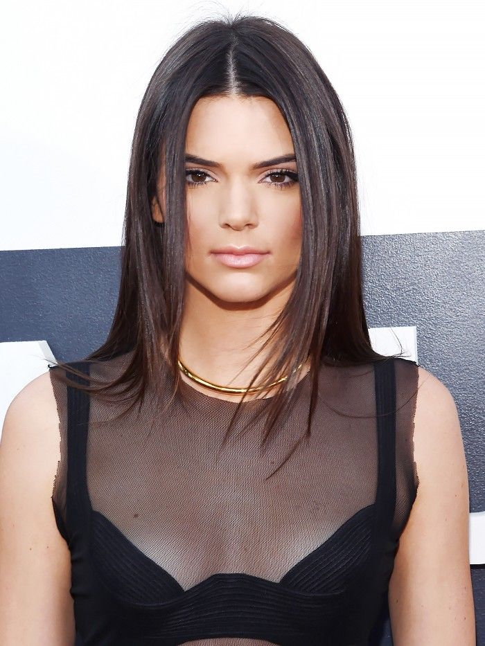 8 Ways To Style Center Parted Hair Courtesy Of Kendall Jenner Byrdie