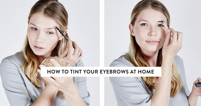 How to tint your eyebrows at home byrdie uk solutioingenieria Image collections