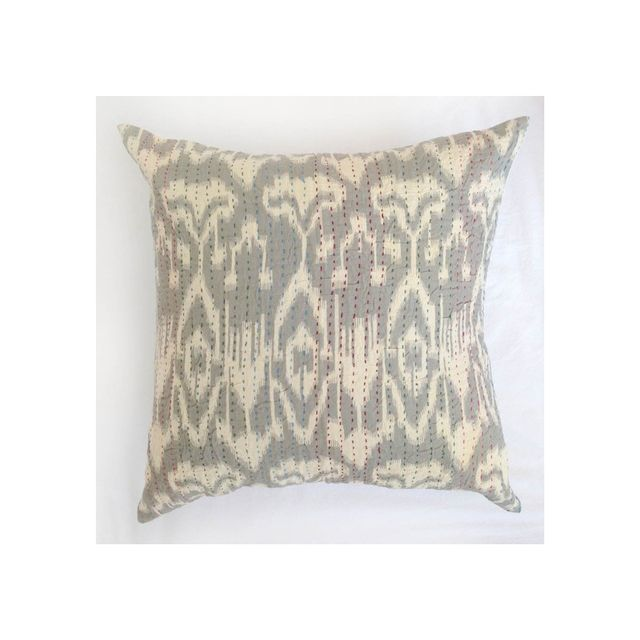 Table Tonic Hand Stitched Indian Kantha Cushion