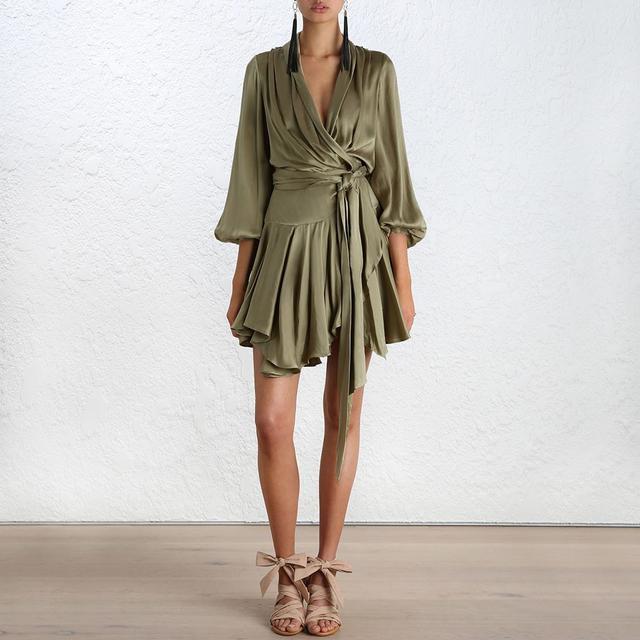Zimmermann Empire Sueded Robe Dress
