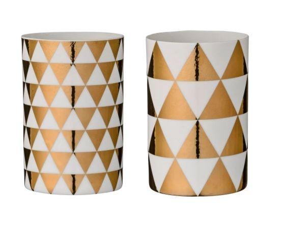 French Bazaar Fine Porcelain Votives Set of 2