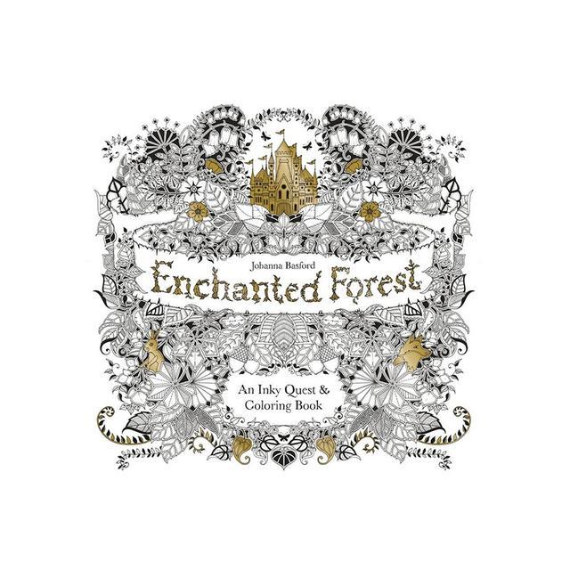 Johanna Basford Enchanted Forest colouring book