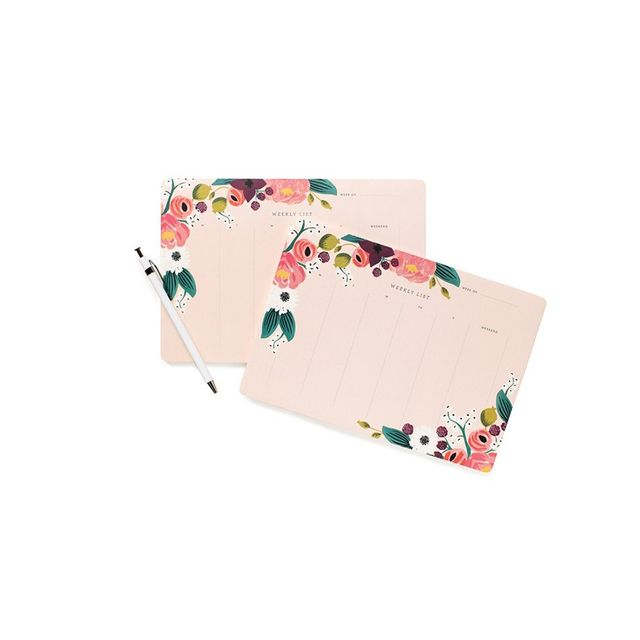 Liberty Trading Co. Weekly Desk Pad - Pink Floral