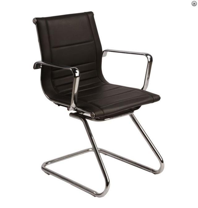 Matt Blatt Leather Visitors Chair