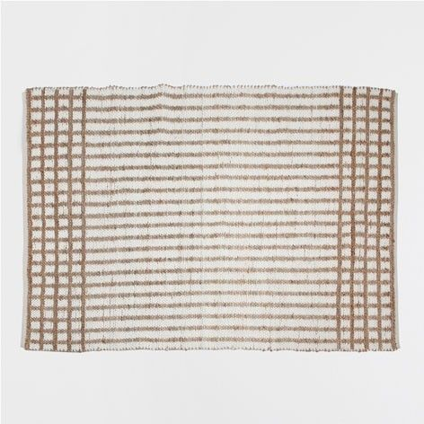 Zara Home Jute Checked Rug