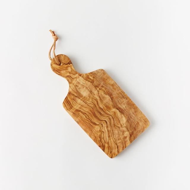 West Elm Olive Wood Paddle Cutting Board
