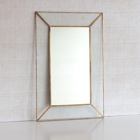 Zara Home Crystal Mirror with Metal Edge