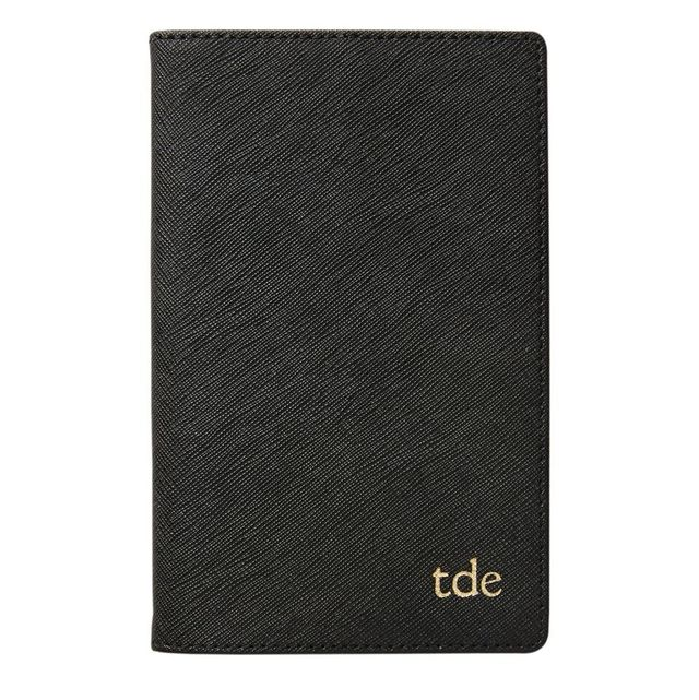 The Daily Edited Black Leather Notebook Holder