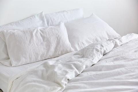 IN BED 100% Linen Duvet Cover in White