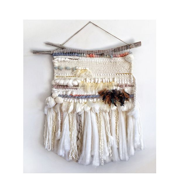 Table Tonic LOTTIE Wool Wall Hanging with Duck Feathers (80x90cm)