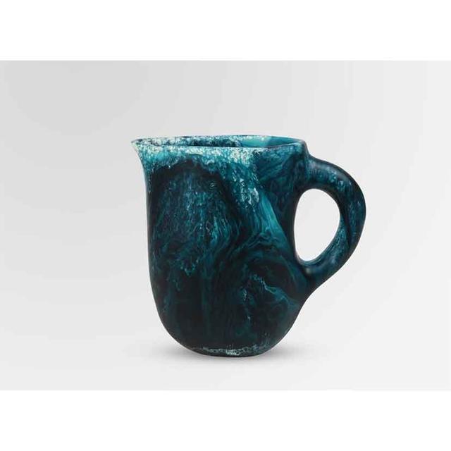 Dinosaur Designs Large Resin Rock Jug - Moody Blue Swirl