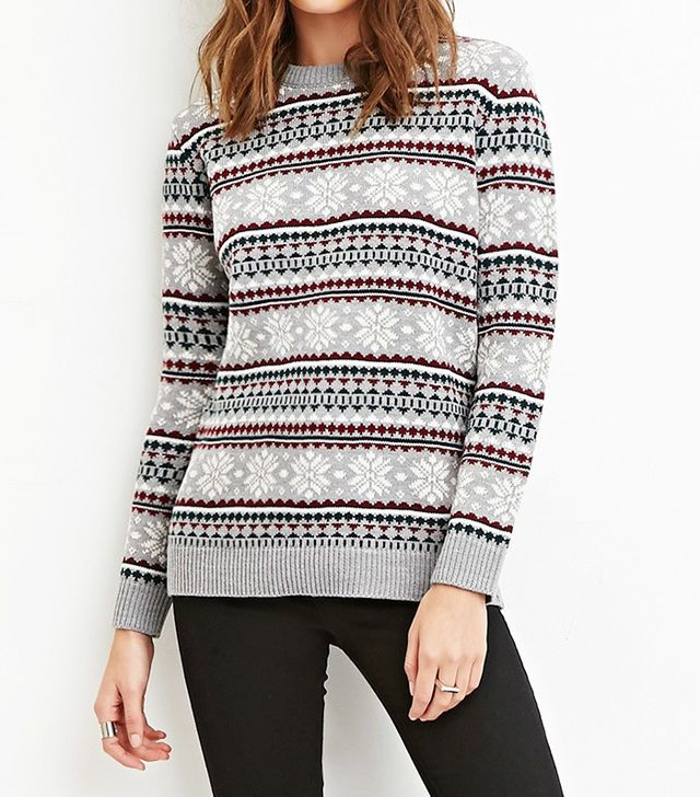Forever 21 Snowflake Patterned Sweater